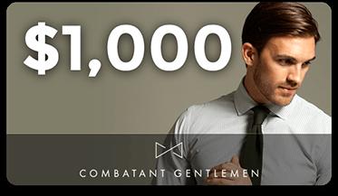 Combatant Gentlemen Giftcard