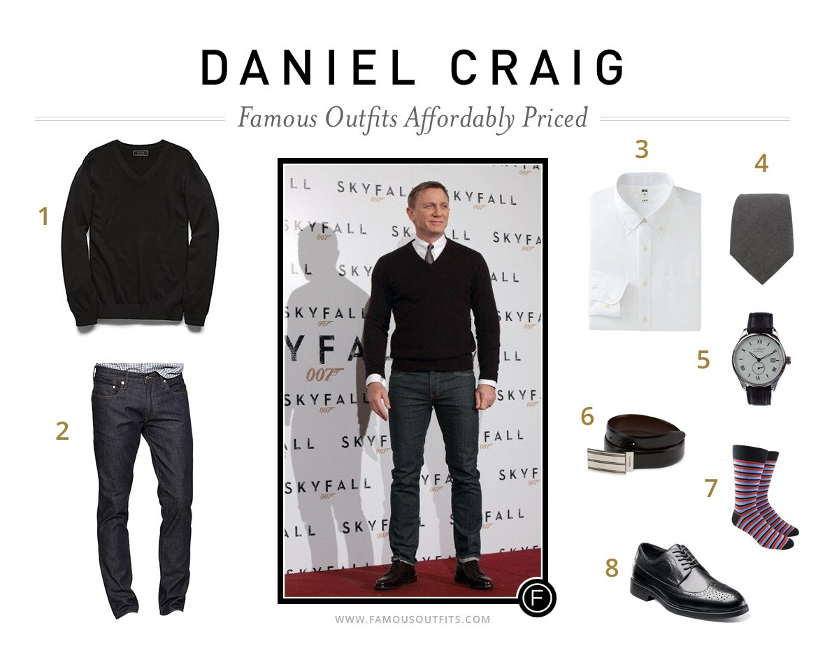 Famous Outfits | Affordably Priced Daniel Craig