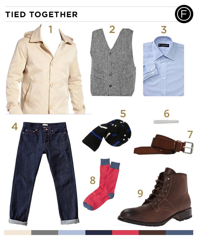 Jason Sudeikis' Tie and Tweed Look