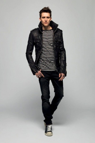 Black Leather Jacket Men Fashion