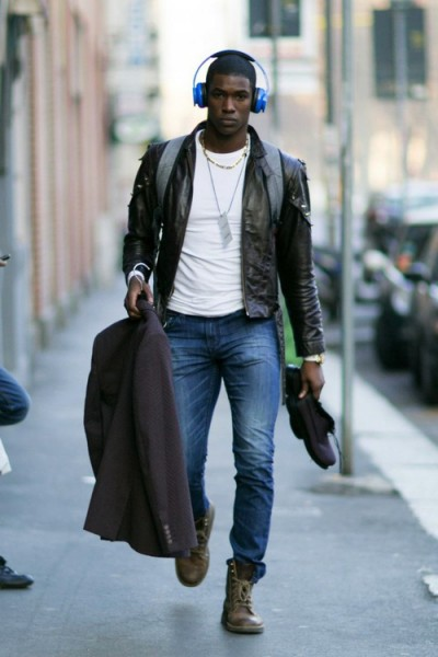 Mens Black Leather Jacket Style Famous Outfits