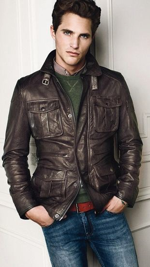Men's Brown Leather Jackets Style
