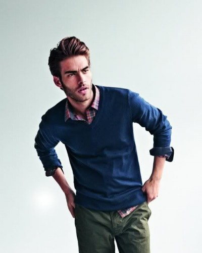 Green and olive pants style for men famous outfits for Flannel shirt under sweater