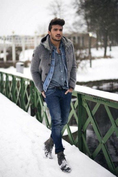 From hats, gloves, scarves, and sweaters, you have many items at your disposal. Enjoy our collection of mens winter outfits to help you stay stylish while