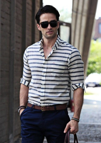 Red And White Striped Sweater Mens