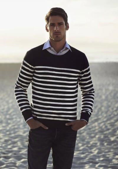 Navy Striped Sweater