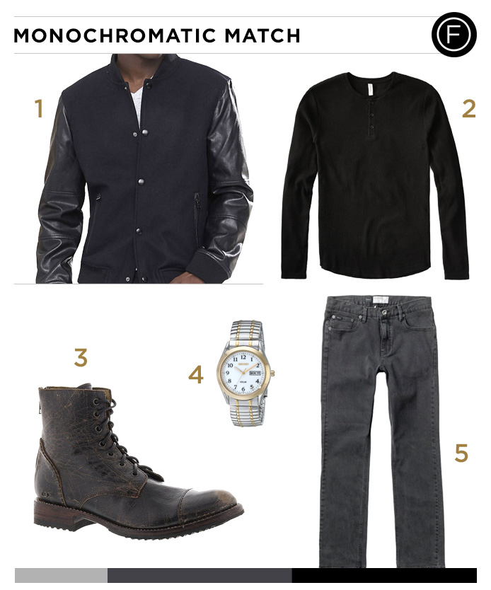 Ryan Gosling's Monochromatic Outfit