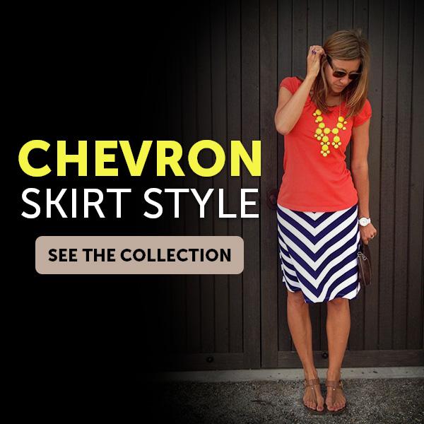 Chevron Skirt Style