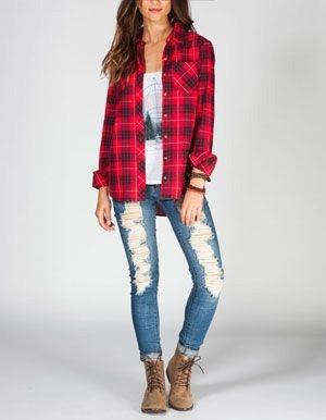 Womenu0026#39;s Plaid and Flannel Fashion | Famous Outfits - Women