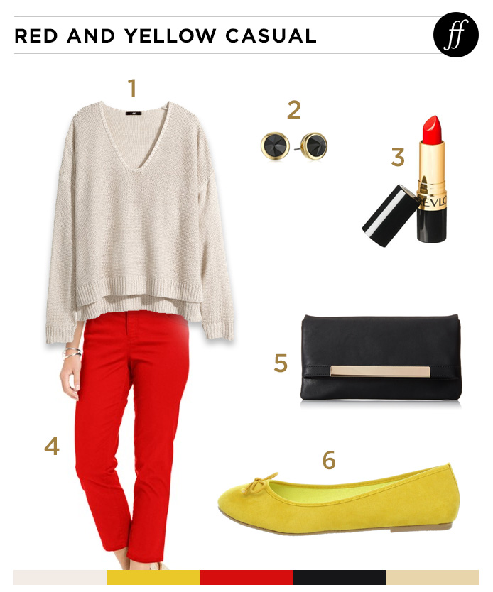 Taylor Swift's Red and Yellow Casual Style
