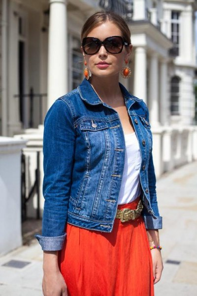 Women's Denim Jacket Style | Famous Outfits - Women